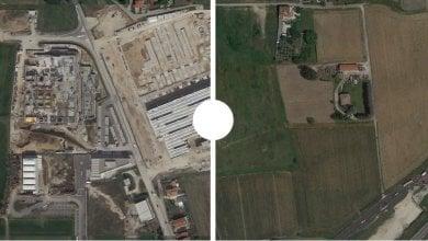 L'Italia perde 2 metri quadri di suolo al secondo: le foto prima e dopo la cementificazione