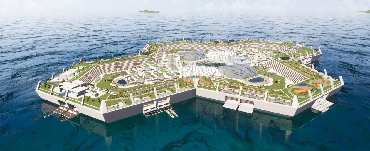 Caraibi. Il turismo balneare di domani sarà sulla prima isola artificiale a impatto energetico zero